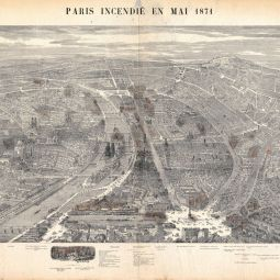 Plan de Paris incendié en 1871, 1871. Archives de Paris, 1Fi 1740.